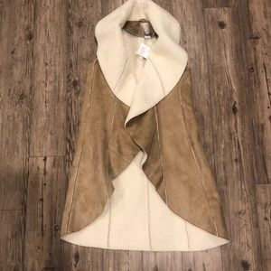 Anthropologie faux shearling vest XS NWT
